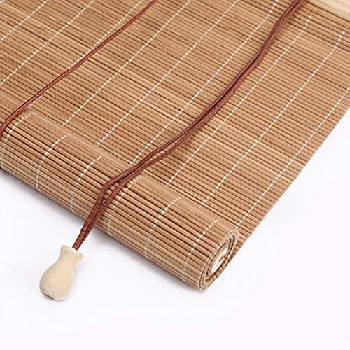 HJRD Persiana Enrollable De Bambú,Cortina De Madera Estor Enrollable Cortina De Bambú Sombreado A Prueba De Humedad Tirar De La Mano Retro para Puertas/Ventanas/Balcones,90x175cm(90 * 175cm)