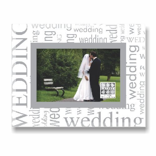 Sixtrees Wedding All Over Expression Frame, 4 by 6-Inch by Sixtrees