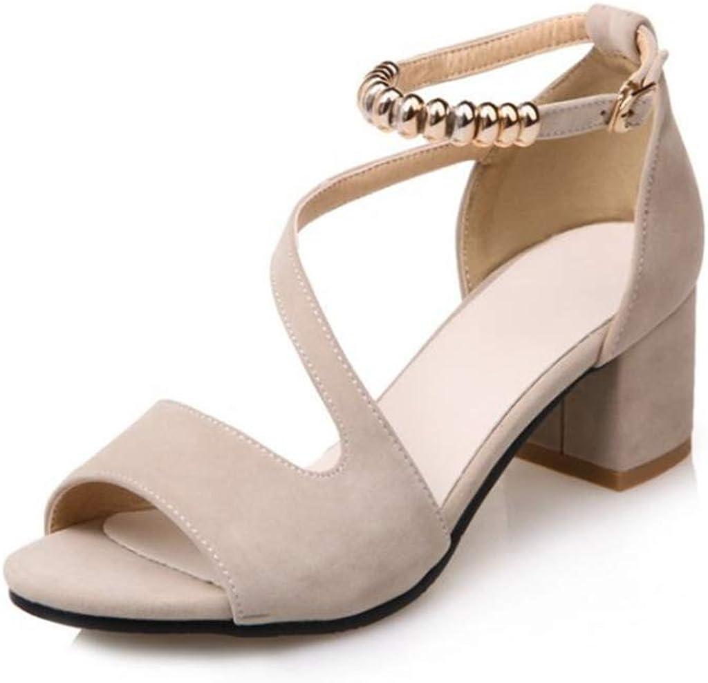 GCOCO Women's Chunky Block Mid Heel Open Luxury goods Toe Buckle Sandals Ankl Max 53% OFF