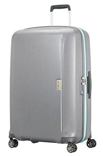 Samsonite Mixmesh Spinner Large Suitcase 75 cm, Grey/Capri Blue (Grey) - 106747/7084