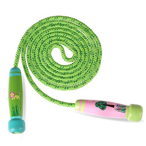 Reastar Springseile Kinder Verstellbare Sport springen Seil mit Cartoon Holzgriff und Baumwollseil ideal für Fitness Training, Spiel und Knochenentwicklung zu fördern
