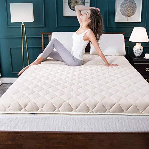 Colchón de Suelo Colchón de futón, futón Plegable Transpirable, colchón Grueso, colchón de Dormir japonés Doble, colchón de Suelo de futón Suave, colchón de Suelo Enrollable plegable/azul/120x190