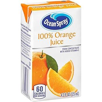 Ocean Spray 100% Orange Juice Boxes 4.2 Ounce  Pack of 40