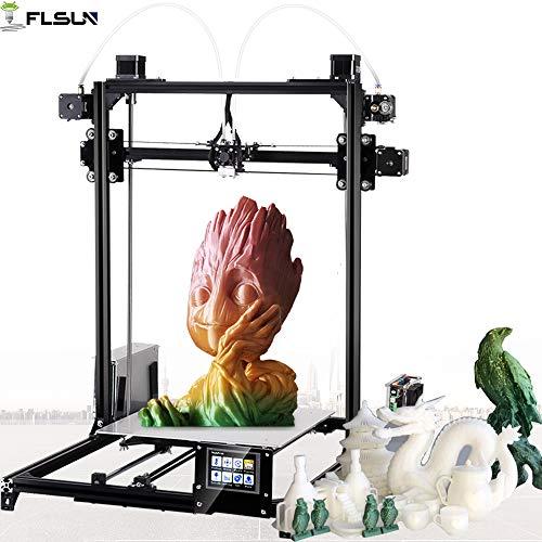 FLSUN, stampante 3D Plus Prusa i3,kit fai da te con schermo digitale autolivellante, stampante 3D, vassoio riscaldato. Occasione di regali per i vostri cari