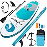 ALanber Inflatable Paddle Board 10'6'x32'x6' Ultra-Light (18.6lbs) Non-Slip SUP with Premium Accessories - Wide Stance for Paddling Youth Adult Stand Up Boat