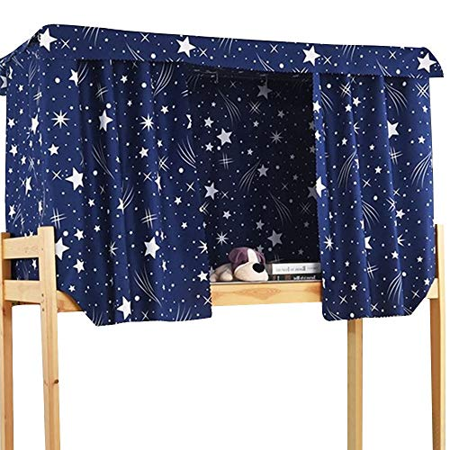ADELA BOUTIQUE Star String Print Bed Canopy Bedding Curtain Blackout Cloth Single Sleeper Bunk Bed Tent 3pcs Curtain