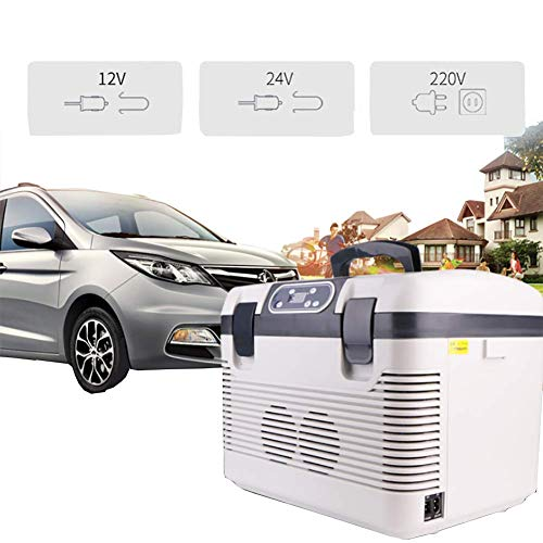 DKDYBR Refrigerador Coche Exterior 19 litros Nevera Pequeña, PortáTil Almacenamiento Agua Y PrevencióN Fugas Frutas Verduras Bebidas Medicamentos Cajas Aislamiento Refrigeradas