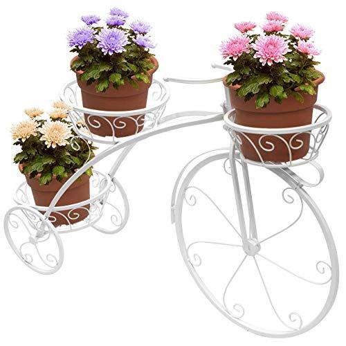 Wghz Soporte de Flores para Interiores, Soporte para Carro de macetas Soporte para Plantas suculentas, Bicicleta de Hierro en Maceta para decoración de jardín Almacenamiento al Aire Libre para in