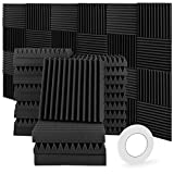 pannelli fonoassorbenti, 24 pezzi (30 * 30 * 5 cm) pannelli insonorizzanti pannello fonoassorbente pannelli insonorizzanti stanza per podcasting studi di registrazione uffici home learning