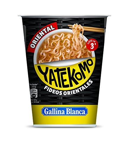 Gallina Blanca Yatekomo Oriental - Fideo Orientales, 61 g - [Pack de 8]