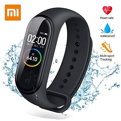 Xiaomi Mi Band 4 Activity Tracker,Monitor attività,Monitor frequenza cardiaca Monitoraggio Fitness, Bracciale Smartwatch con Schermo AMOLED a Colori 0,95, con iOS e Android (Versione Globale)