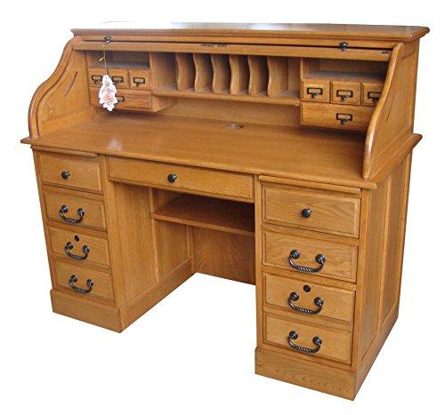 Chelsea Home 54 in. Mylan Roll Top Desk in Harvest Oak (Kitchen)