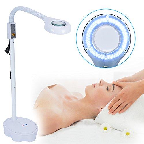 Lámpara Lupa LED, Estética de aumento lupa con luz brillante para lectura, tareas y manualidades profesional Lámpara de pie