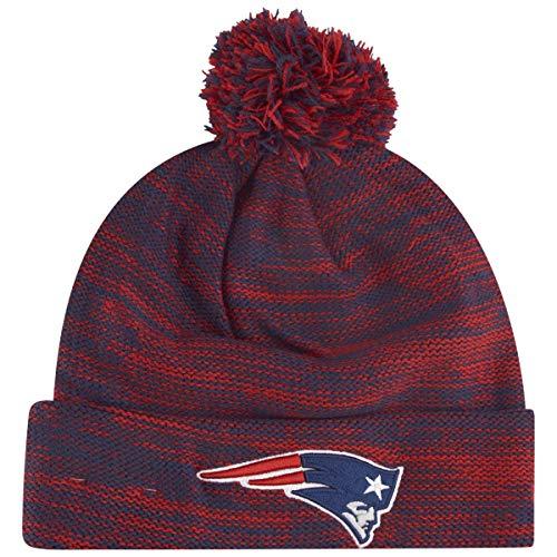 New Era Wintermütze Marl Bobble Beanie New England Patriots