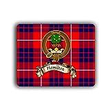 Hamilton Scottish Clan Tartan Crest Computer Mouse Pad
