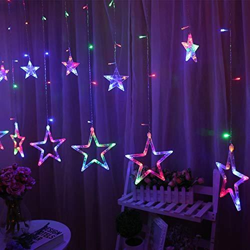 LED Vorhang String Lights Pentagram...