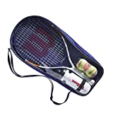 Wilson Roland Garros Elite 25 Wr039010F Kit per Tennisti Principianti, Borraccia, 2 Palline da Tennis, Borsa Porta-Kit, dai 9 ai 10 Anni