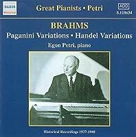 Brahms: Paganini/Handel Variat