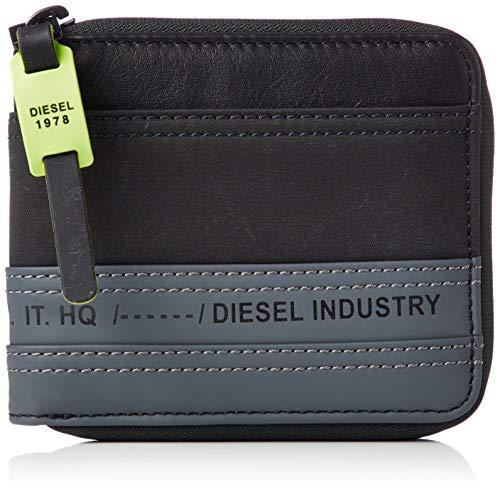 Diesel Herren TOLLE ZIPPY HIRESH S - wallet Zweifalten-Geldbörse, schwarz/grau, Einheitsgröße