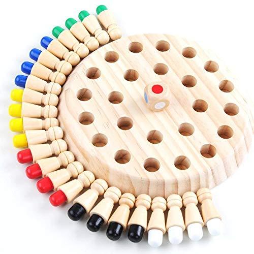 Pamura - KUNTERBUNT - Schach Kinder - Memory Spiel - Brettspiel Holz - Lernspiel - Kinder Geschenke - Gedächtnistraining