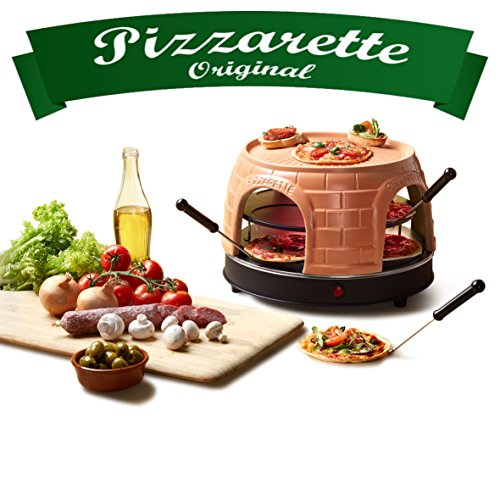 Emerio PO-116124 - Forno per pizza in terracotta, design brevettato, per 8 persone