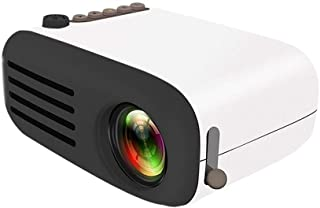 Mini Portable Projector, Hamkaw 60 Inch Display 1080p Full HD LED Movie Projector Compatible with USB SD AV for Home Theater Video Laptop Game