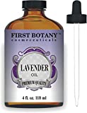 First Botany Cosmeceuticals Lavender Oil with a Glass Dropper, 4 oz...
