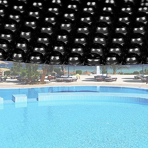 Bâche à bulles Ronde 5m Noire Couverture de piscine solaire Chauffage de bassin Outdoor Jardin