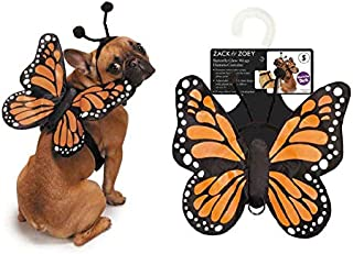 MPP Butterfly Wing Dog Costume 3D Glow in The Dark Functional Harness Monarch Insect