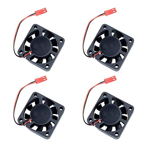 WEFLAIR 6 Pack Turbo DC Blower Cooling Fan, heatsink for 3D Printer with 2 Pin Terminal(12V, 0.15A)