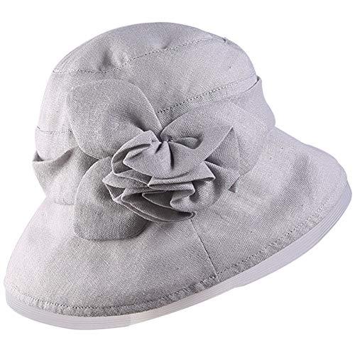 kyprx Camouflage Kinder Sonnenhut Damen Strand Sonnenschutz Tuch Hut Tag Falten Blume Schatten im Freien grau