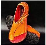 QDY Sandali da Donna 2021 Stile Europeo e Americano con Fibbia da Donna con Fibbia a Fondo Piatto Pantofole da Donna di Grandi Dimensioni Marrone, Blu Lago, Verde.Arancia,