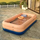 JBZP Play Water Lawn Sprinklers-Inflatable Pool, Family Lounge Pool, Inflatable Lounge Pool for Kiddie, Adults, Easy Set Pool for Backyard, Summer Water Party, Outdoor