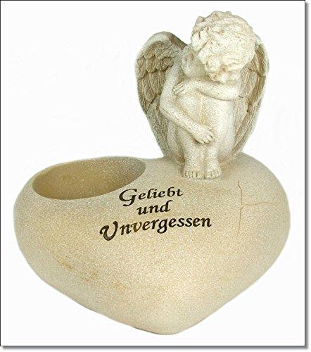 Engel mit Vertiefung für Grablicht