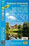 UK50-8 Naturpark Steigerwald, nördlicher Teil: Bamberg, Schweinfurt, Haßfurt, Volkach, Hallstadt, Gerolzhofen, Schlüsselfeld, Eltmann, Zeil a.Main, ... Karte Freizeitkarte Wanderkarte)