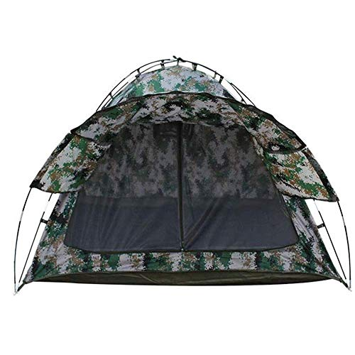 L-YINGZON Camping Tent Digital Sunshade Camouflage Tent, Highly Breathable Two Mesh Front and Rear, Polyester Fiber Oxford Cloth, 2m * 2m * 1.45m Outdoors
