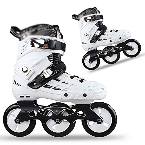 Inline Skates Adult Speed Skating Shoes Skates Ladies Wear-Resistant Pu Tires Roller Blades Three-Wheeled Beginner