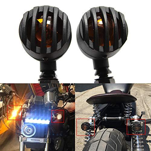 Motorrad Blinker Licht, 2pcs Retro Bremsblinker Blinker Lampe 3 Draht Glühlampen Blinker Bobber Blinker für Bobber Cruiser Chopper mit M10 10mm