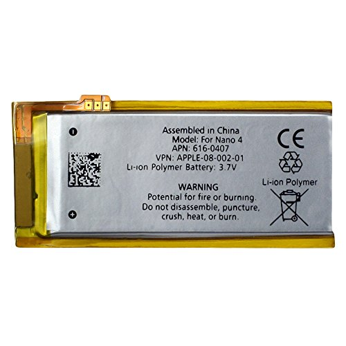 Fenzer Replacement Rechargeable Battery for Apple iPod Nano 4th 4 Gen Generation