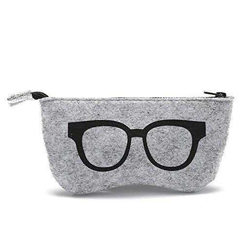 Leisial Funda de Gafas Sol con Cremallera Estuche de Anteojos Bolsa de Almacenamiento para Lápices Pluma Tarjetas de Hombre Mujer 18.5 * 9CM