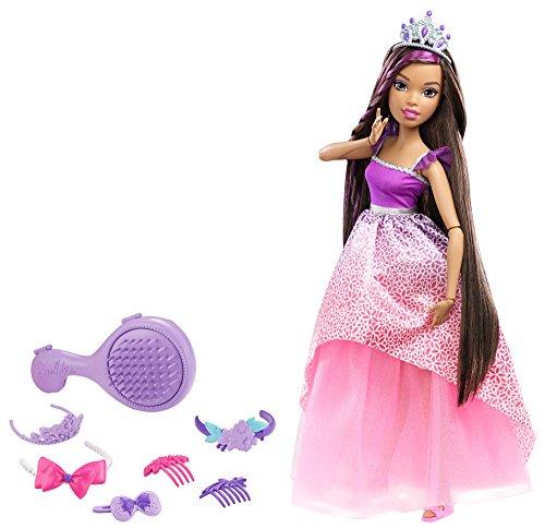 Mattel-DPK21 Barbie Reino de los Peinados magicos,