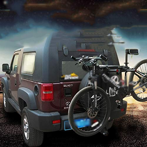 TINGYIN SUV trailer Fangkou car rear spare tire car luggage rack car bicycle rack,Hang 4