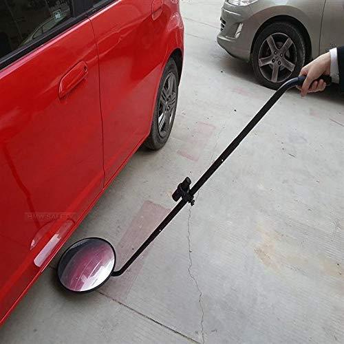 lonelymen Fahrzeuginspektionsspiegel, Unterfahrzeuginspektionsspiegel, Lichtquellenreparaturreflektor, 12-Zoll-Durchmesser-Sicherheitsspiegel mit Rädern und Licht