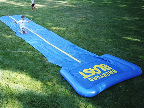BACKYARD BLAST - 30' Waterslide with Square Pool - Easy to Setup - Extra Thick to Prevent Rips & Tears