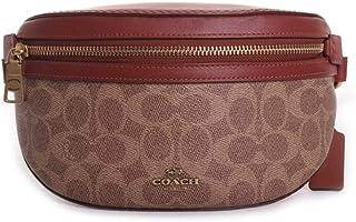 COACH Womens Coated Canvas Signature Belt Bag
