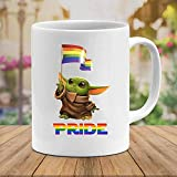 N\A LGBT Baby #Yoda Star #Wars Película Película Cerámica Regalo Tazas Divertidas Tazas