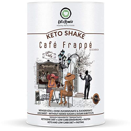 KetoMeals Keto Shake (Café Frappé) & weitere Sorten | Keto Diät, Low Carb Ernährung, Fasten | Kaffee, Eiskaffee | 25 Portionen, 450g Pulver
