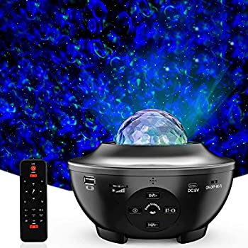 Star Projector,3 in 1 LED Ceiling Galaxy Light Projector,10 Colors 360°Rotational Dynamic Projections,Built-in Music Speaker for Kids Bedroom/Game Rooms/Home Paty