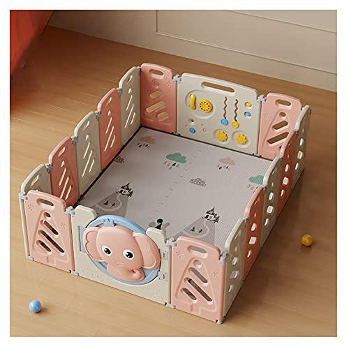 Beckye 16 Paneles Vallado for bebés,Portátil Interiores Y Exteriores Parque Infantil for...