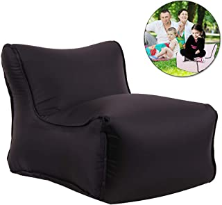 Adava Inflatable Chair Children Shoe Bench Air Sofa Footrest 3D Cartoon Plush Fruit Seat with Portable Handle for Living Room Bedroom Home Decoration